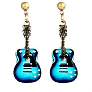 Boutique Retro Guitar Earrings—FIRM PRICE